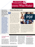 Fighting Poverty, What Works Issue 1