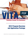 IRS Publication 4671 - 2012 Program Overview & Application Package