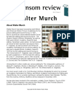 The Transom Review April, 2005 - Walter Murch