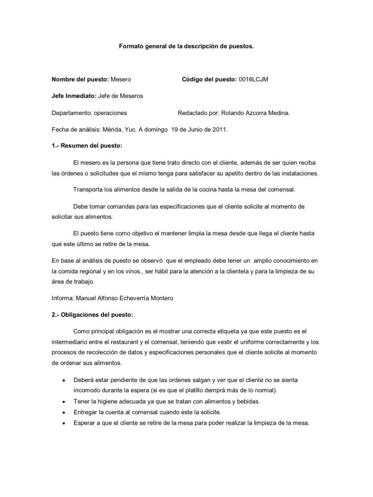 Magnífico Ejemplo De Currículum De Cajero De Restaurante Inspiración ...