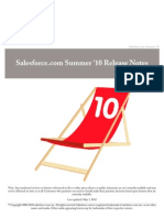 Sales Force Summer '10 Release Notes