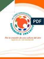 1er Foro Internacional EDUCACION INCLUSIVA CALI