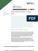 Asian Equity Markets-A Closer Look