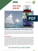 Pure Antarctic Krill Oil for maximum Omega 3