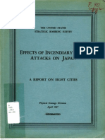 USSBS Report 90, Effects of the Incendiary Bomb Attacks on Japan - A Report on Eight Cities, OCR
