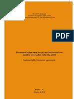 Todo o suplemento III Tratamento e Prevenção que inclui profilaxia pós-exposição sexual 2010