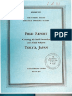 USSBS Report 4, Field Report Covering Air Raid Protection and Allied Subjects, Tokyo, Japan, OCR