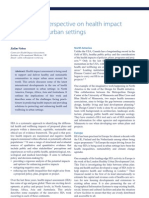 International Perspectives on Health Impact Assessment in Urban Settings