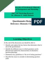2-Lectures Ch 15 Questionnaire Design
