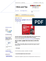 Displaying a Gadget Only on the Home Page _ Blogger-Hints-And-Tips