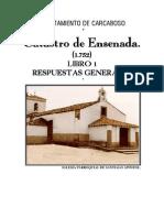 Carcaboso Catastro de Ensenada 1752 Libro 1
