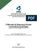 MERCADO SEGURANÇA PRIVADA VISÃO SOCIOLOGICA E ECONOMICA