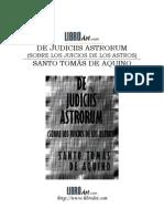 Aquino, Santo Tomas de-De Iudiciis Astrorum
