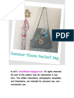 Summer Bloom Bucket Bag Instructions