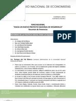 """04-02-11 Relatoría 2do Foro Regional """"Hacia un nuevo proyecto nacional de desarrollo"""""""