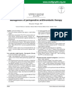 Management of Perioperative Anti Thrombotic Therapy