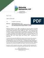 NOI & PAD Cover Letter (Distribution List)