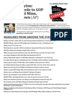 July 14, 2011 - Media Reaction - The Dayton Shutdown