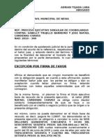 Contestacin Excepciones Sabelly Trujillo y Jose Rafael Cardenas