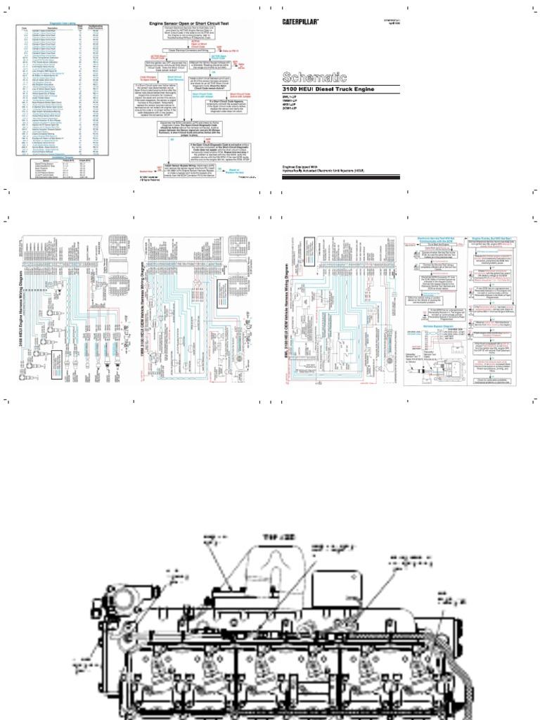 cat 3126 eletric diagrama fuel injection turbocharger rh es scribd com cat 3116 engine diagram 3126 cat engine ecm wiring diagram