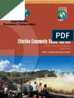 APEC Effective Community Based Tourism WEB