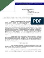 Modelo de Demanda en Juicio Ejecutivo Mercantil