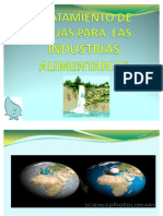 TRATAMIENTO DE AGUA EN INDUSTRIAS ALIMENTARIAS