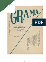 Revista  de poesía GRAMA, nº 1