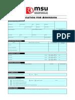 MSU IMS Application Form