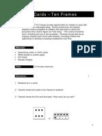 Dot Cards - Ten Frames