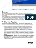 Application Streaming Delivery and Profiling Best Practices