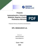 Automatización y Telemetría para la Medición, Reporte y Control de los Parámetros Hidráulicos