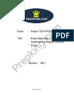 Prepking 132-S-916 Exam Questions