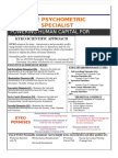 The Psychometric Personality Specialist