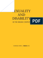 Sexuality and Disability in the Indian Context