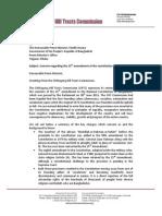CHTCommission LetterToPM Constitution