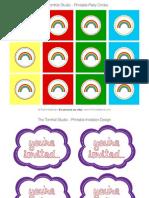 Raindrop Party Circles and Invitation Front - Tomkat Studio