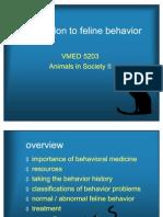 5203 Feline Behavior-Animals in Society2 09