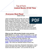 The 100 Greatest Books of All Time Everyone Must Read
