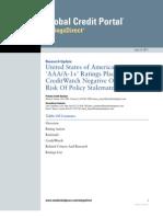 S&P envisage de dégrader les Etats-Unis