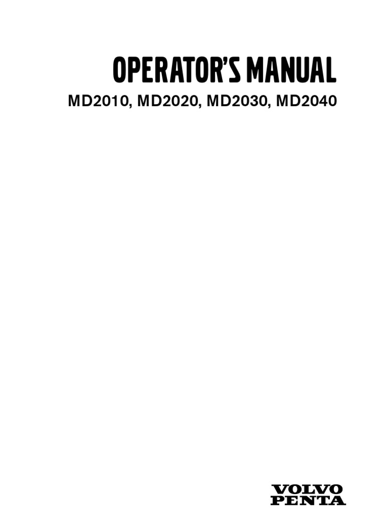 volvo penta md2020 operation manual battery electricity engines rh scribd com