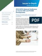 2010 Current SEC and PCAOB Developments