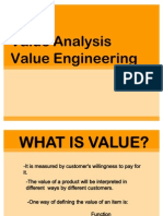 Value Analysis Value Engineering