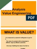 Value Analysis Value Engineering