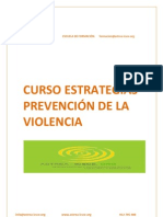 Curso Estrategias de Prevencion de La Violencia