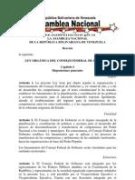 Ley Oprganica Del Consejo Federal de Gobierno