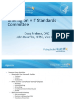 HIT Policy Committee Standards Update 07-06-11 - Doug Fridsma and John Halamka