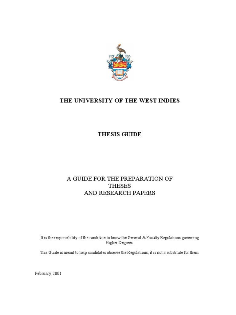 uwi thesis guide mona