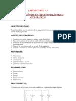 LABORATORIO # 3 CONSTRUCCION DE UN CIRCUITO ELÉCTRICO PARALELO