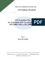 ISO 14001 Transition Pub